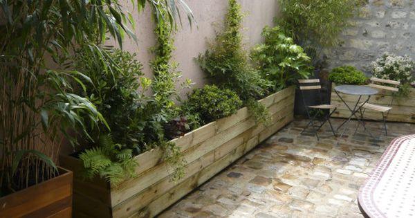bac bois sur mesure courette silv re doumayrou summer garden pinterest recherche. Black Bedroom Furniture Sets. Home Design Ideas
