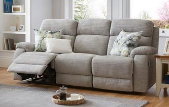 Newbury 3 Seater Manual Recliner Prestige Fabric Sofa Sofa Styling Home
