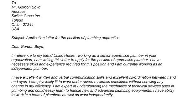 apprentice electrician cover letters