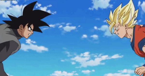 Giphy Gif 480 300 Wow Goku Vs Black Goku Con Imagenes