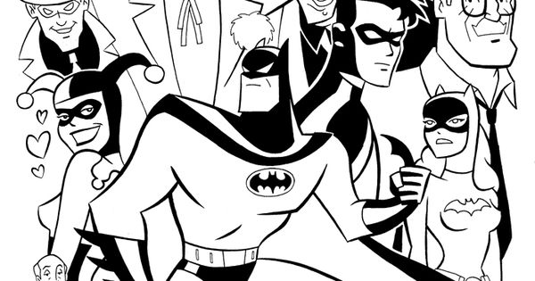 Animated Batman Coloring Pages Batman Beyond Animated ...