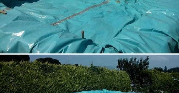 Build a swimming pool out of bales of hay. | 37 Ridiculously