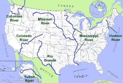 united states physical map rivers Online Website/Game: SS3G1 Locate major topographical features on