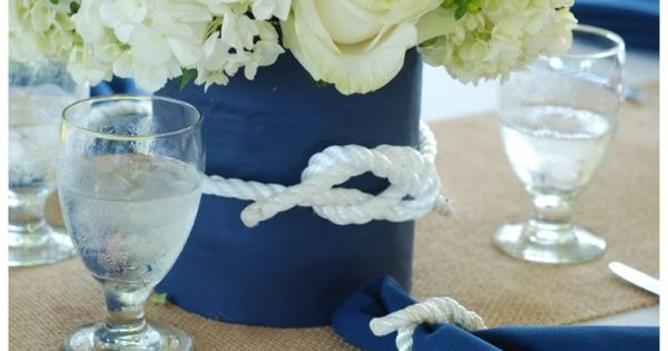 Navy blue and white flowers.