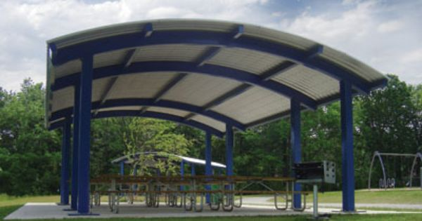 Captivating Arched, Curved Roof Shelters, Square Or Rectangle