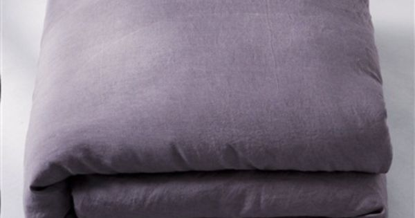 100 Pre Washed Linen Duvet Cover Charcoal Grey White