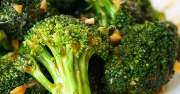 Broccoli with Asian Garlic Sauce. Super easy and highly addictive! Use GF