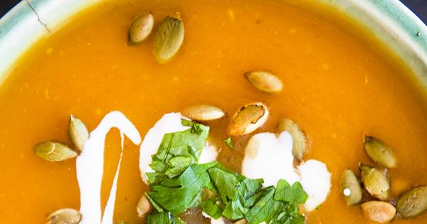 Spicy pumpkin soup! with Southwestern flavors of chipotle ...