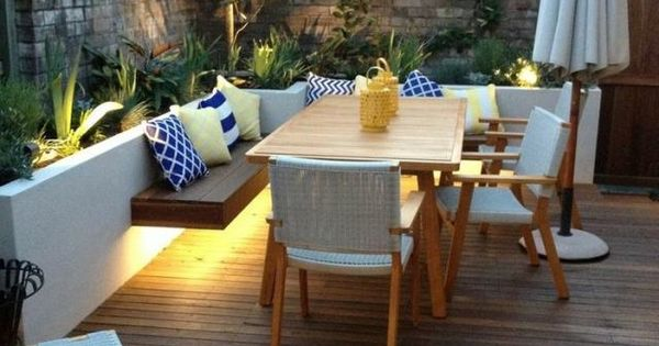 indirekte led beleuchtung terrasse holz sitzbank unterbeleuchtung garten ideen pinterest. Black Bedroom Furniture Sets. Home Design Ideas