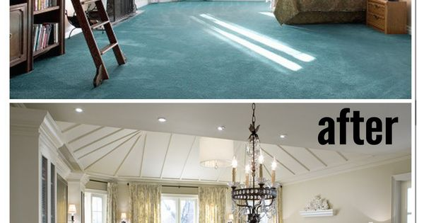 Amazing Before and After Master Bedrooms by Candice Olson. Now that's how