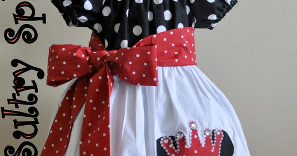 Minnie Mouse peasant dress