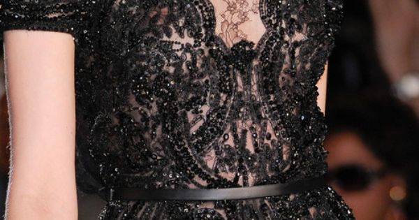 Stunning black lace dress Detail from Elie Saab Fall 2012-2013 Couture.