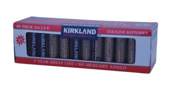 Kirkland Signature Aa 1 5v Alkaline Batteries 48 Pack Alkaline Battery Alkaline Battery Maintenance