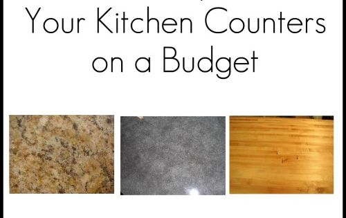ideas and links for changing/updating kitchen countertops