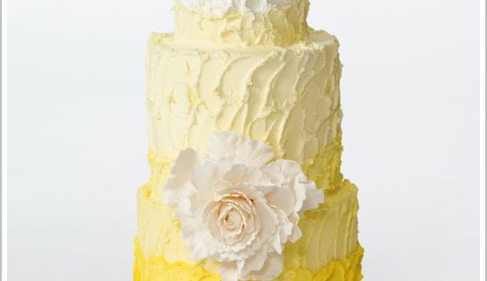 """You are my sunshine ..."" Rustic Ombre Yellow Buttercream Cake via TheFrostedCakeSho..."