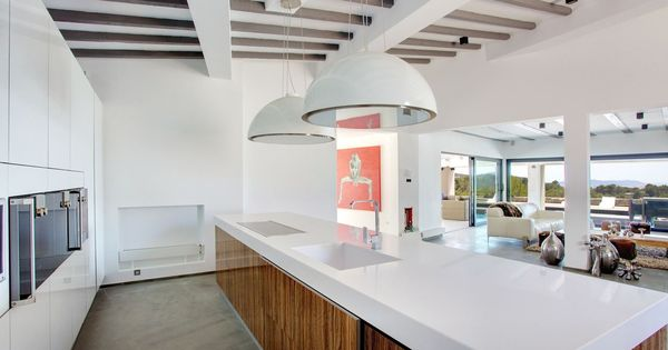 Wave eiland afzuigkap design in de vorm van een lamp afzuigkap kookeiland keuken keukens - Keuken back bar ...