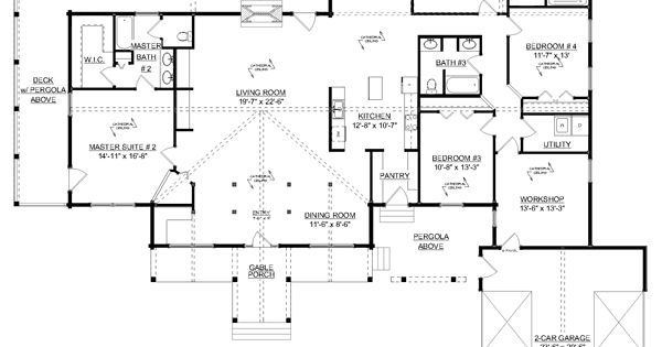 Double Master Suites Craftsman Design Craftsman House Plans