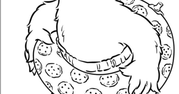 Monsters Wear Buoy Cookies Coloring Pages