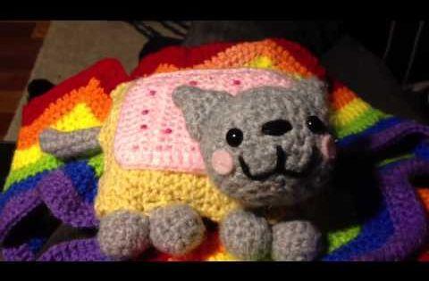 Nyan Cat Amigurumi Free Pattern : Nyan Cat Scarf Visual Pattern - Fun With Crochet Stitches ...