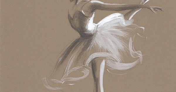 ORIGINAL pencil painting/drawing 12 x 8 on BROWN by EwaGawlik, $29.00