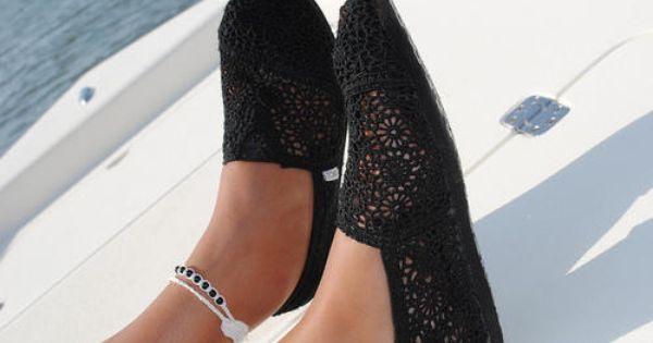 Black crochet toms!!! Got em!!