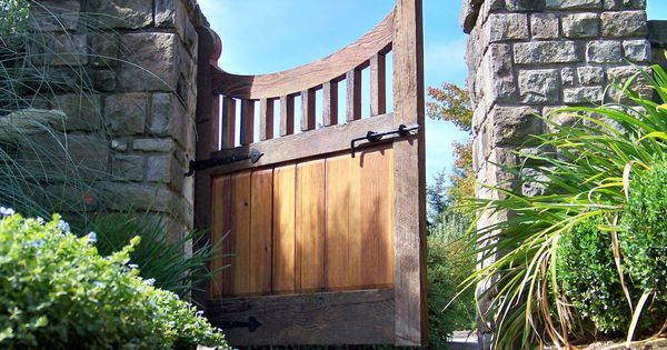 Reclaimed Wood Gate Garden Entry French Garden Traditional Joinery Craftsmanship