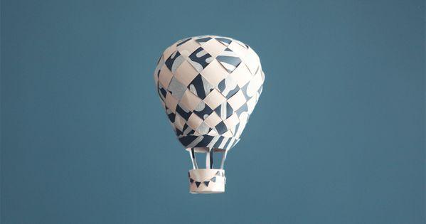 Do it yourself la montgolfi re en papier peint bricolage papier pinterest papier diy et - Montgolfiere en papier ...