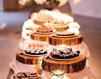 Texas, rustic wedding ideas - rustic dessert table set-up