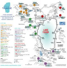 map of lake tahoe ski resorts Take An Audio Tahoe Tour Tahoe Driving Tours By Around Tahoe map of lake tahoe ski resorts