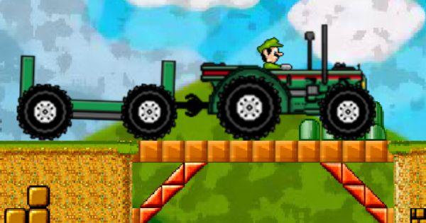 Mario Traktoru 4 Oyunu Monster Trucks Mario Oyun