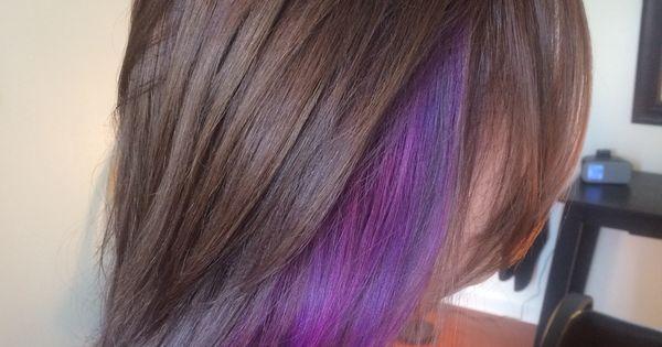 Purple Hair Hot Pink Brunette Brown Chunk Chunky
