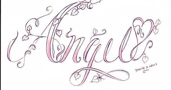 Ladies Cursive Writing Tattoos On Chest Free Cursive Calligraphy Script Handwriting Wedding