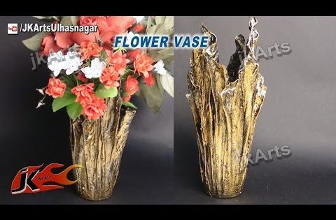 Diy up drip flower vase from waste cloth how to make for Waste material flower making