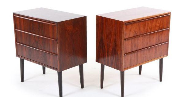 Danish Rosewood Bedside Cabinets Mr Bigglesworthy Designer
