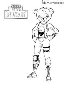 Fortnite Battle Royale Coloring Page Cuddle Team Leader Cheryl