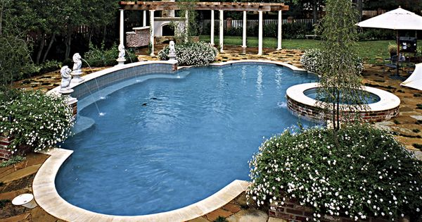 Pool Statues By Blue Haven Pools Tyler Pool Statues Pinterest Swimming Pools Pool Designs