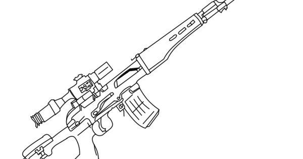 Sniper Nerf Gun Coloring Pages Pinterest Guns