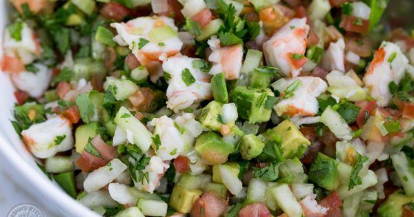 Shrimp avocado, Salsa and Shrimp on Pinterest
