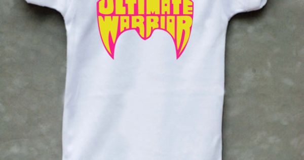 Ultimate Warrior Onesie Wwf Etsy One
