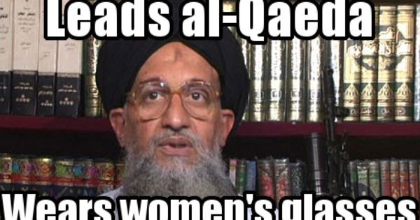 Al Qaeda Leader Ayman Al Zawahiri Womens Glasses Guys