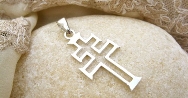 Cruz De Caravaca Modern Style Christian Cross Pendant With A