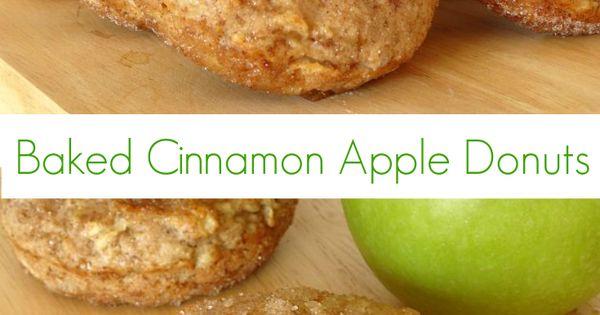 Cinnamon donuts, Baked apples and Apple cinnamon on Pinterest