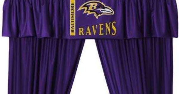 Baltimore Ravens Valance Nfl Ravens Nfl Bedding Sets