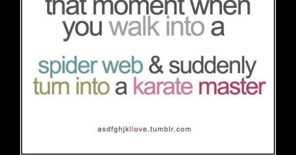 Spider web karate master :) I Love this & it is so