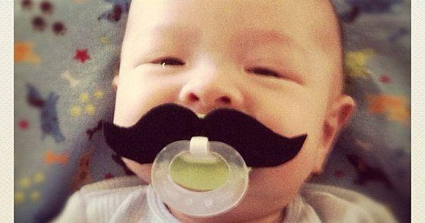 Mustache Pacifier - Black Strongman. moustache baby cute