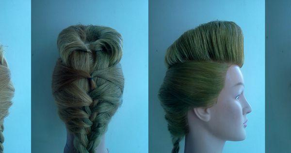 psychobilly hairstyles : Psychobilly quiff braid by @prettyinpoison Psychobilly hair ...