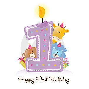 First Birthday Candle With Animals Happy First Birthday 1st Birthday Wishes Happy 1st Birthdays