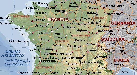 Cartina Fisica Di Parigi.Pin Su Cartina Francia