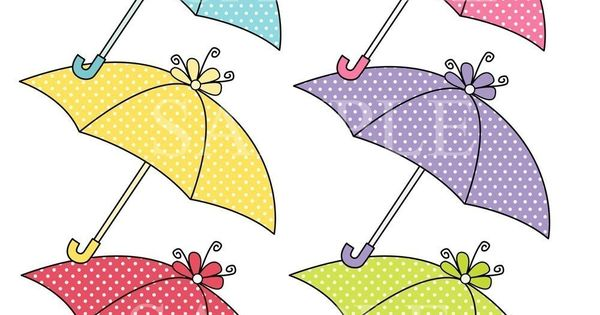 Umbrella Clip Art for commercial and personal use. Invites, cards, scrapbooking. (1). $4.95, via ...