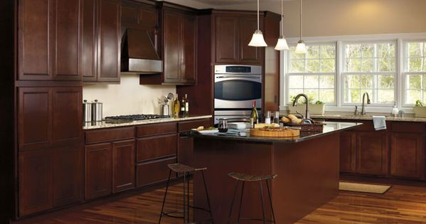 Maple kitchen cabinets the reason to choose dark maple for Rich kitchen designs